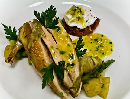 Roast Chicken With Oven-Glazed Carrots And Warm Parsley ...